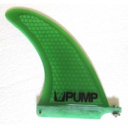 Pump Hex Core Fibreglass Longboard Fin-Green