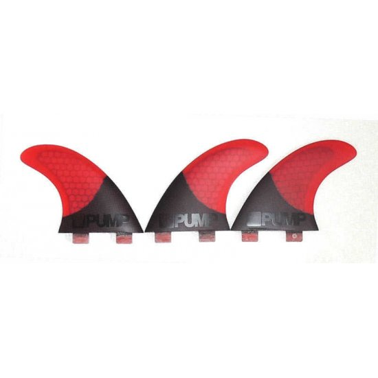 Hex Core/Carbon Fibreglass Fin Set-P5-Red
