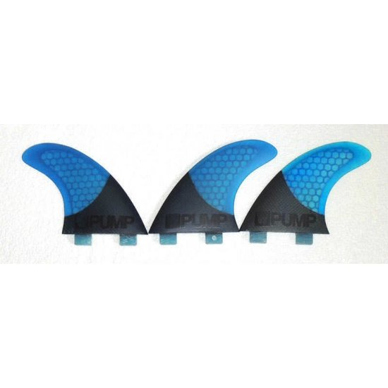 Hex Core/Carbon Fibreglass Fin Set-P5-blue