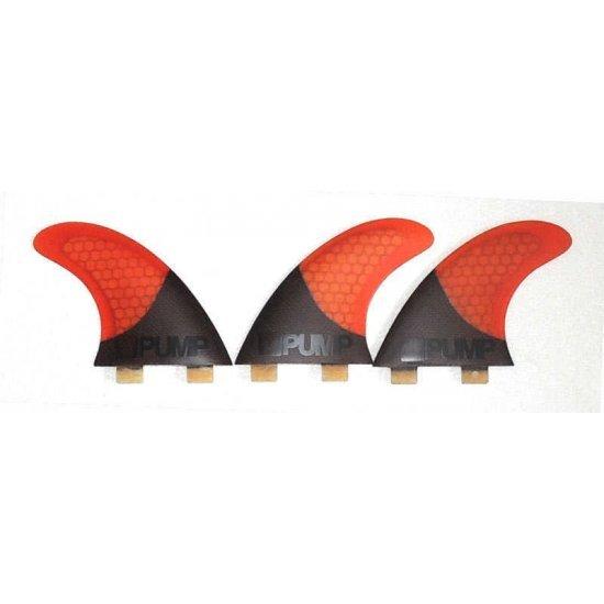 Hex Core/Carbon Fibreglass Fin Set-P5-Burnt Orange