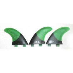 Pump Hex Core/Carbon Fibreglass Fin Set-P5-Green
