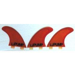 Pump Hex Core Fibreglass Thruster Fin Set-Burnt Orange