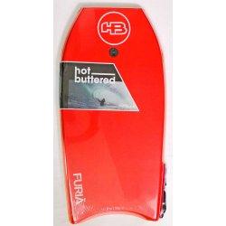 "Hot Buttered Furia Bodyboard 39"" RED (บอดี้บอร์ดและสายโยง ขนาด 39 นิ้ว)"