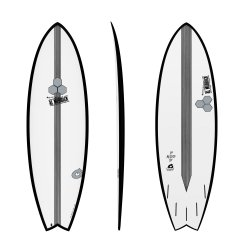 "Channel Islands 5'10"" X-Lite Pod Mod-Black Rails"