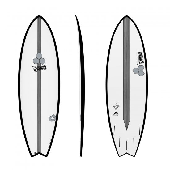 "Channel Islands 5'10"" X-Lite Pod Mod-Black Rails"