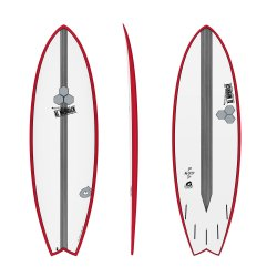 "Channel Islands 6'2"" X-Lite Pod Mod-Red Rails"