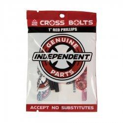"Independent Genuine Parts 1"" Pk/8 Phillips Red Hardware"