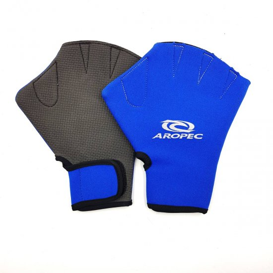 Aropec Watersports Swimming Glove-Blue