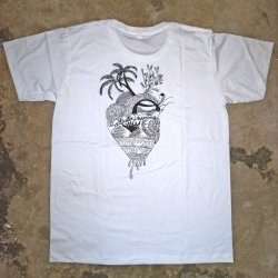 Saltwater Dreaming T-Shirt-Heart of the Sea -White