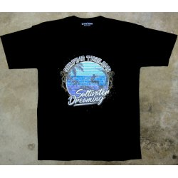 Saltwater Dreaming T-Shirt-Surfing Thailand -Black