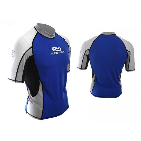 Aropec Lycra Rash Guard-Short Sleeve-BLUE
