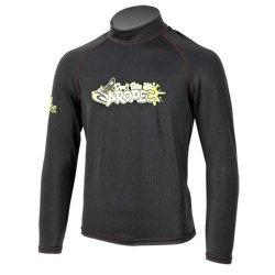 Aropec Kids Lycra Rash Guard-Long Sleeve-BLACK