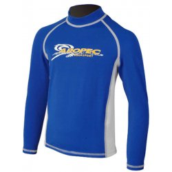 Aropec Kids Lycra Rash Guard-Long Sleeve-BLUE/WHITE