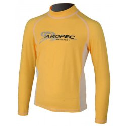 Aropec Kids Lycra Rash Guard-Long Sleeve-YELLOW/WHITE