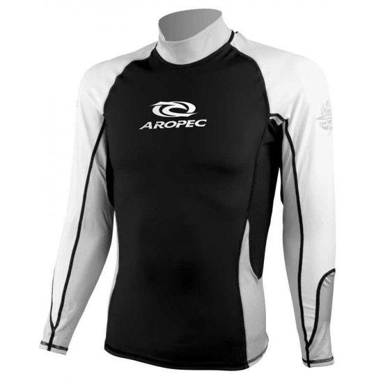 Aropec Lycra Rash Guard-Long Sleeve-adult-BLACK
