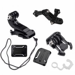 Action Camera Bag of Mounts and Parts
