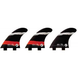 Creatures Of Leisure -Mitch Coleborn Vert  Two Tab (FCS) Tri Fin Set Large- Red/Grey