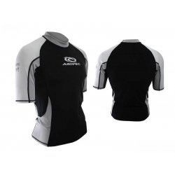Aropec Lycra Rash Guard-Short Sleeve-BLACK