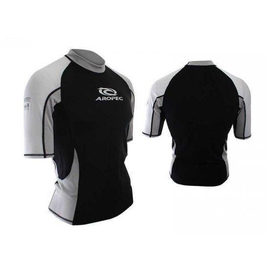 Aropec Lycra Rash Guard-Short Sleeve-BLACK