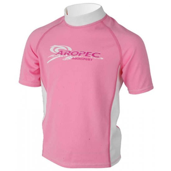 Aropec Kids Lycra Rash Guard-Short Sleeve-PINK