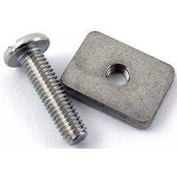 Longboard Fin Screw and Plate (phillips)