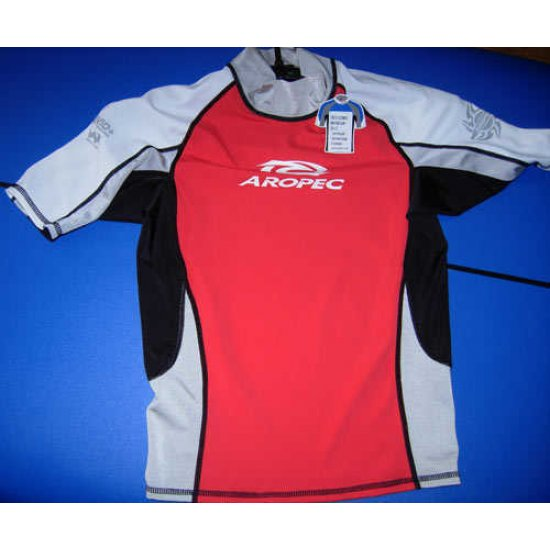 Aropec Lycra Rash Guard-Short Sleeve-RED