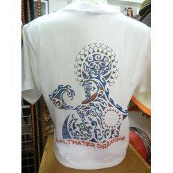 Saltwater Dreaming T-Shirt-White with Maori Logo