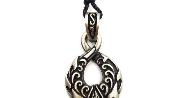 Maori Single Twist Tattoo: Maori Wave Single Twist Pewter Pendant
