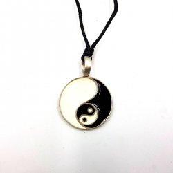 Pewter Pendant Yin Yang Resin
