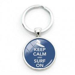 Surfers Key Ring-Keep Calm