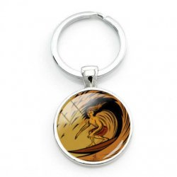 Surfers Key Ring-Too Cool