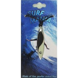 Pewter Pendant Yin Yang Surfboard