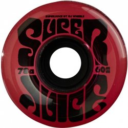 OJ Wheels Super Juice Transparent Red Skateboard Wheels - 60mm 78a