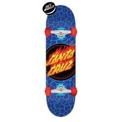 Santa Cruz Flame Dot Full Skateboard Complete 7.50in x 28.25in