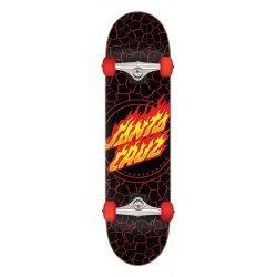 Santa Cruz Flame Dot Full Skateboard Complete 8.25in x 31.25in