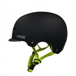 Pro Pro Deluxe Skateboard Helmet-Black (หมวกกันน็อค Skateboard)