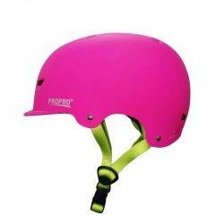 Pro Pro Deluxe Skateboard Helmet-Pink (หมวกกันน็อค Skateboard)