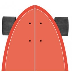"Slide SurfSkate Board - 32"" Diamond Kaena Complete"