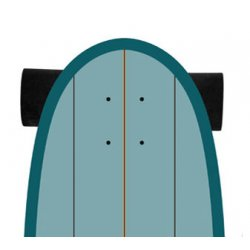 "Slide SurfSkate Board - 31"" Gussie Spot X Complete"