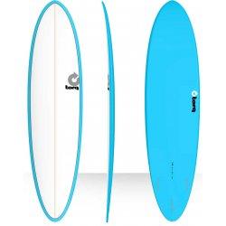 Torq Surfboard 7'2 Modern Funboard - Blue Pinline